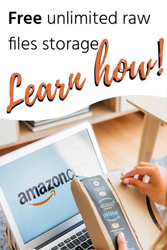 amazon prime photo storage raw files