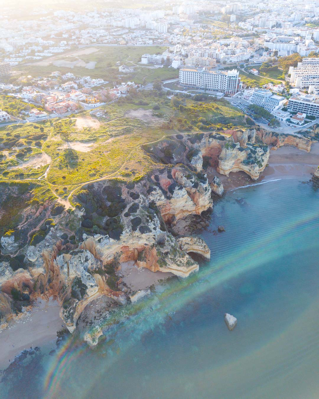 Epic Rock Formations In Algarve, Portugal