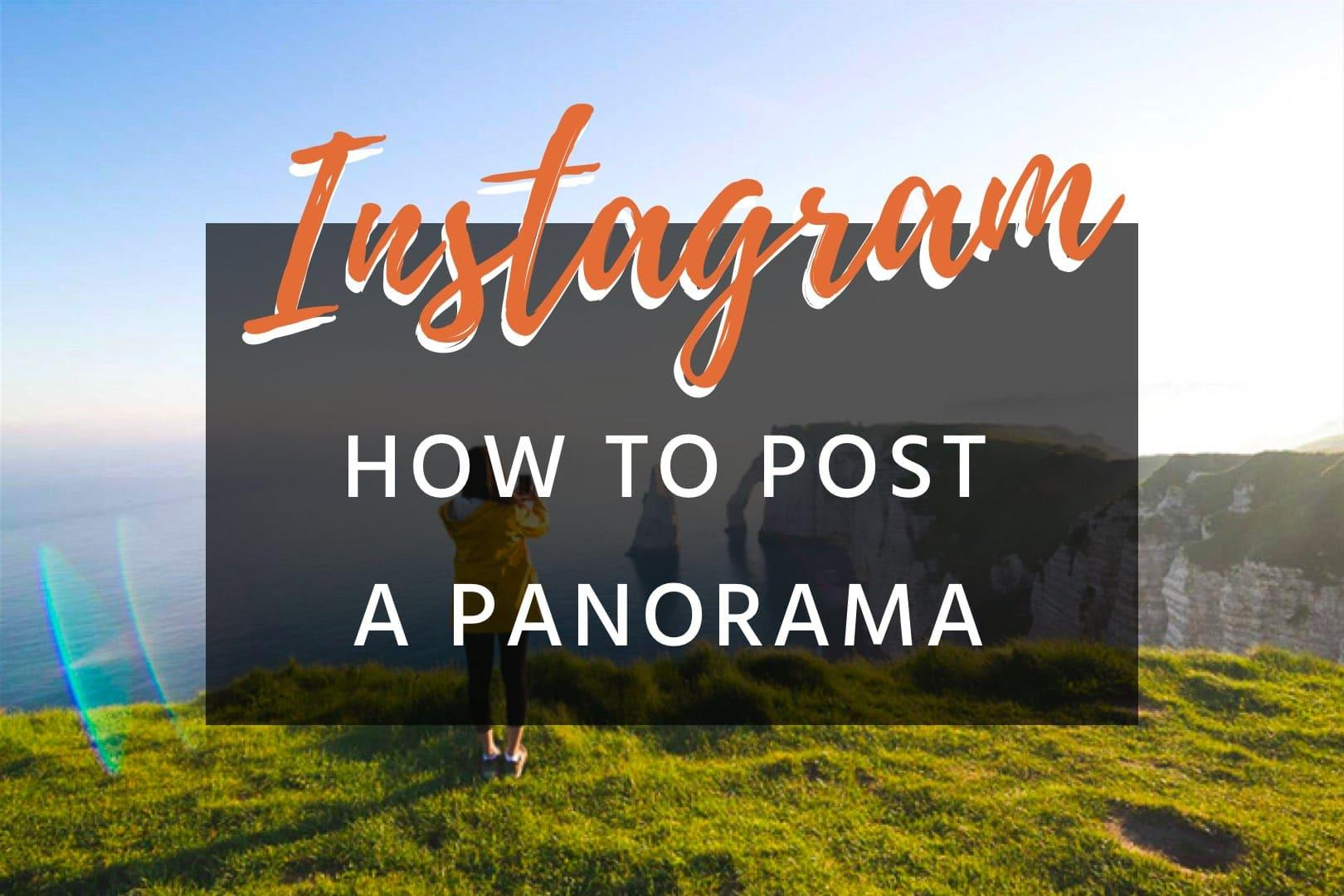 How to post a panorama for Instagram | Photoshop & Android | kevmrc com